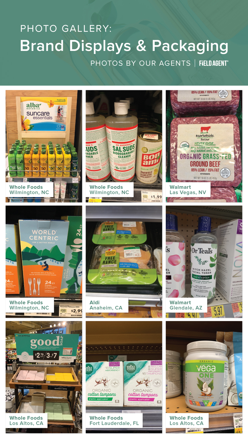Sustainability In-Store Brand Displays and Packaging agent photo gallery