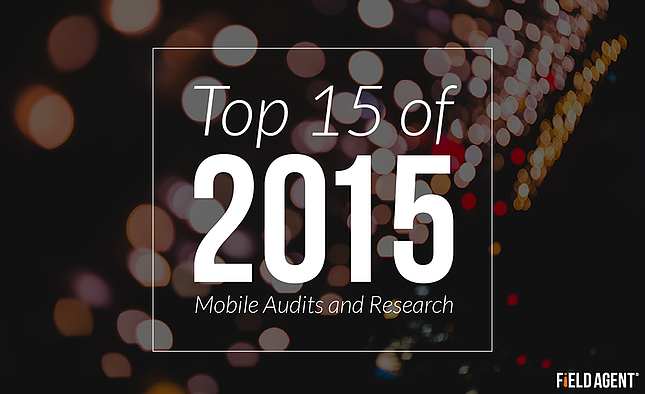 Top 15 of 2015 in Mobile Audits and Research