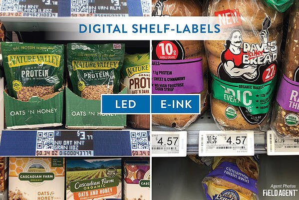 Walmart Digital Shelf Labels - LED vs E-INK