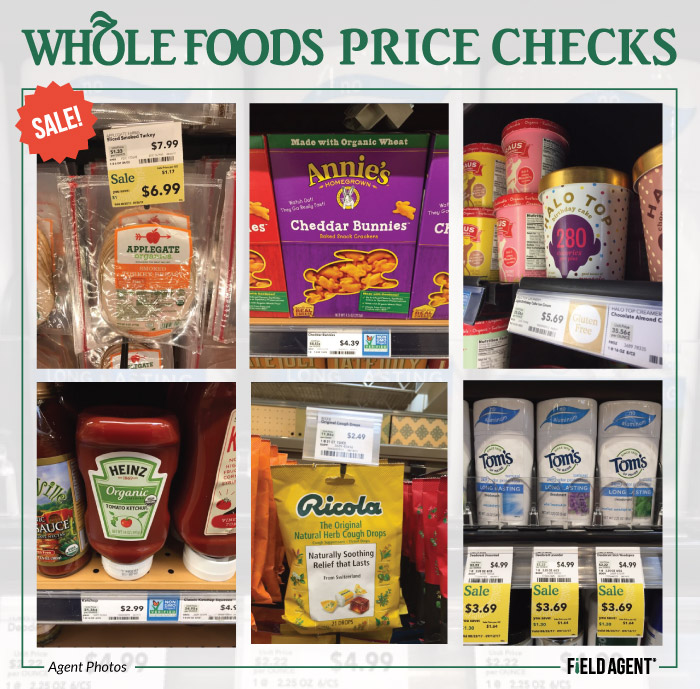 Whole Foods Price Checks - Agent Photos