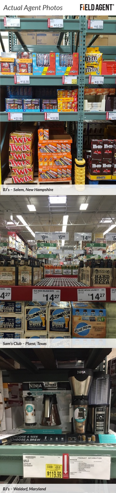 Actual Agent Photos inside Wholesale Clubs