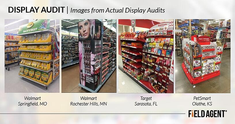 Promotional Display Audit, Images from actual display audits