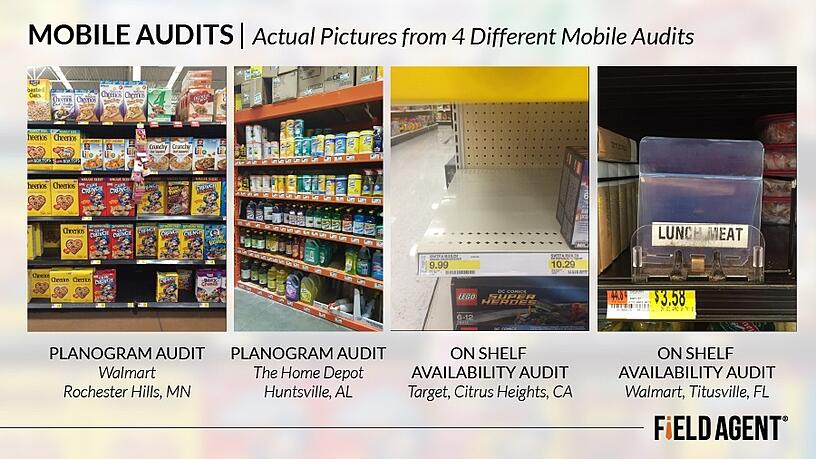 Mobile Audits, Actual pictures from 4 different mobile audits