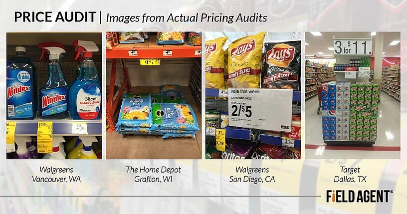 Price Audit, Images from actual pricing audits