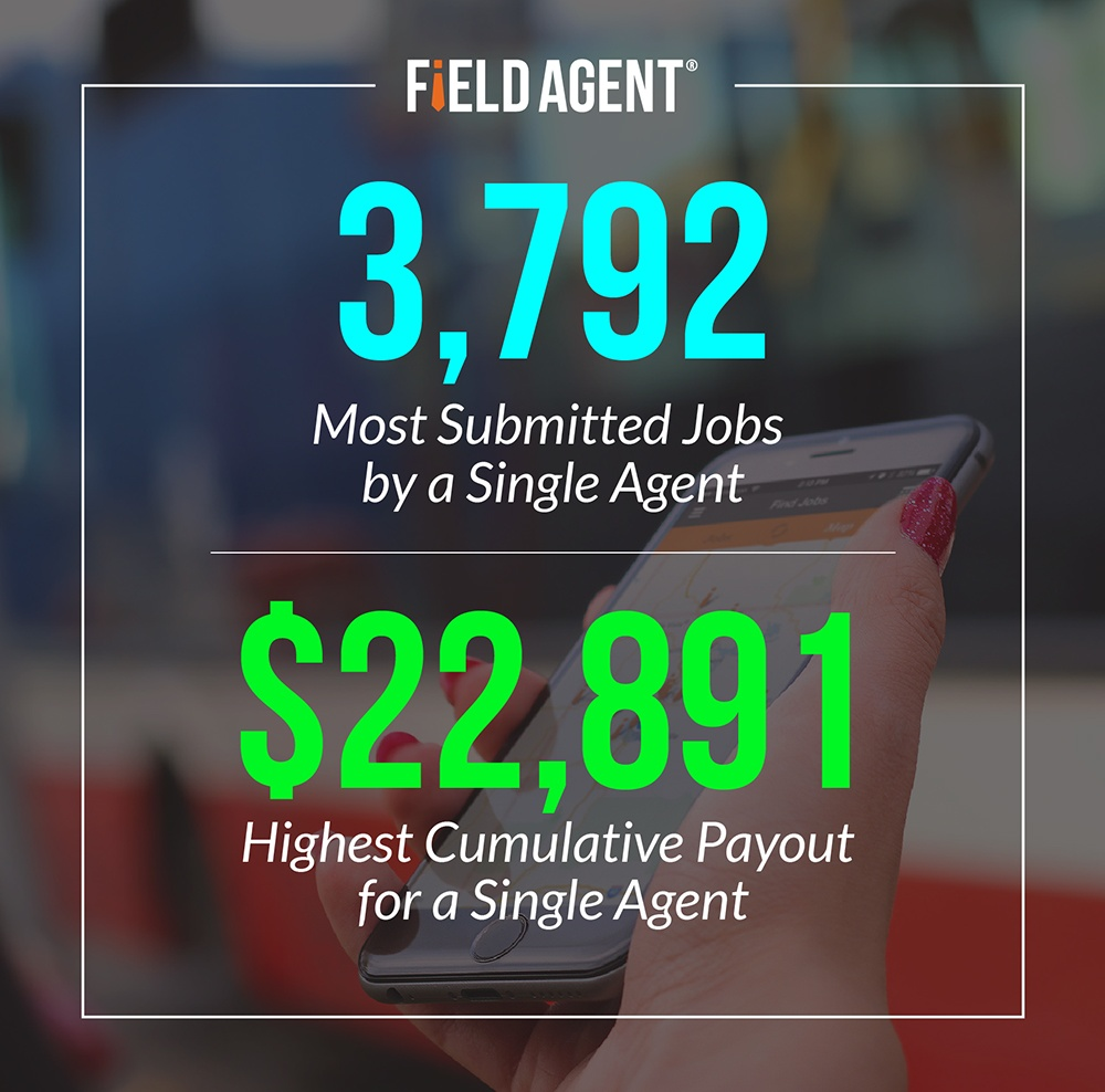3,792 Most Submitted Jobs by a Single Agent, $22,891 Highest Cumulative payout for a Single Agent