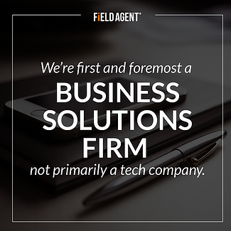 We're first and foremost a Business Solutions Firm not primarily a tech company