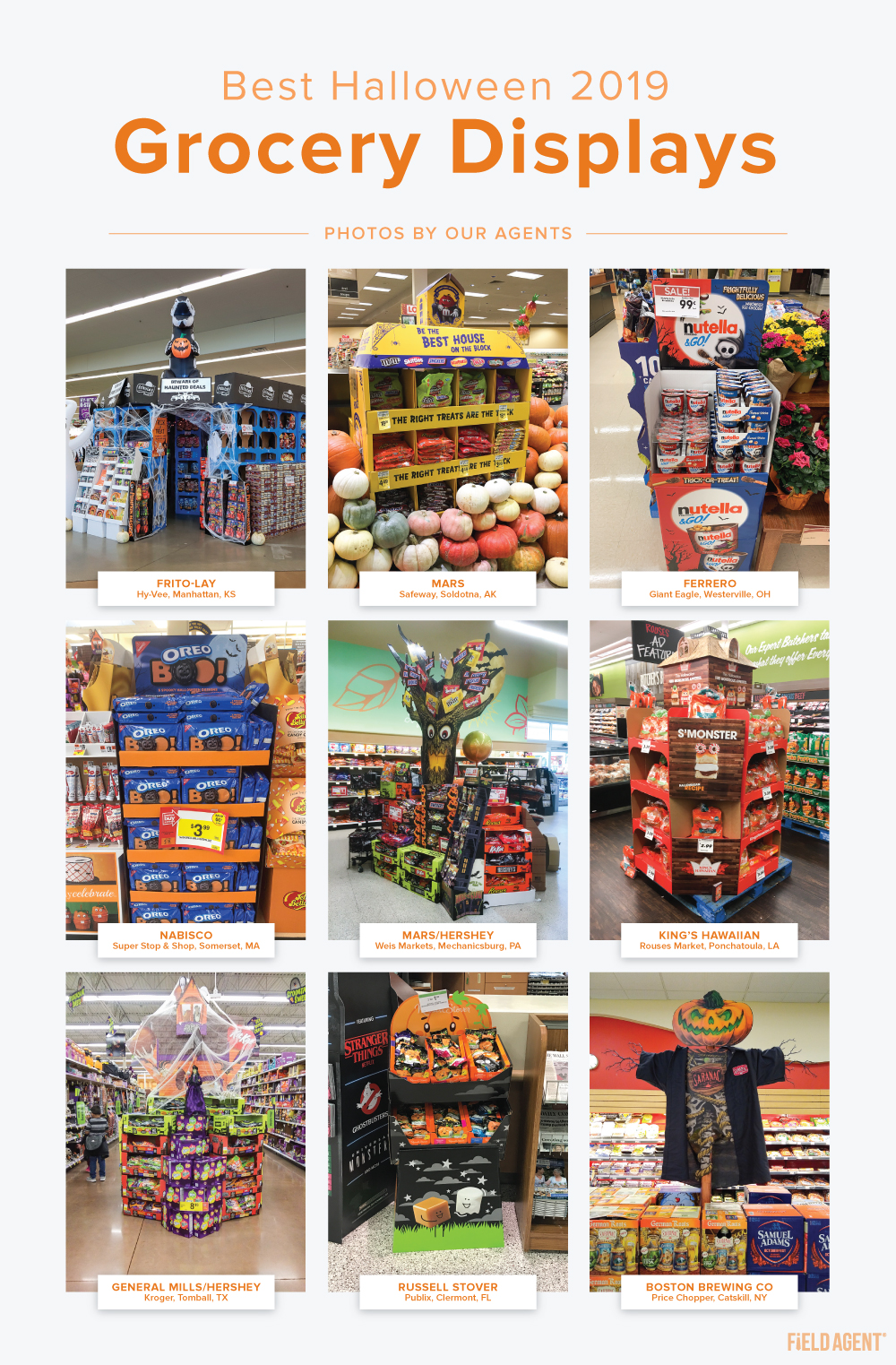 2019 Halloween Grocery Displays