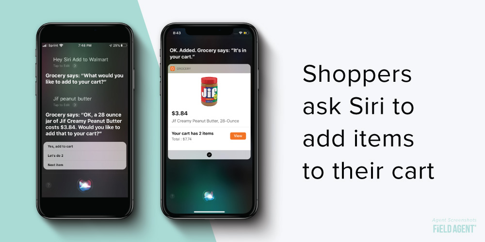Walmart Siri Add to Cart