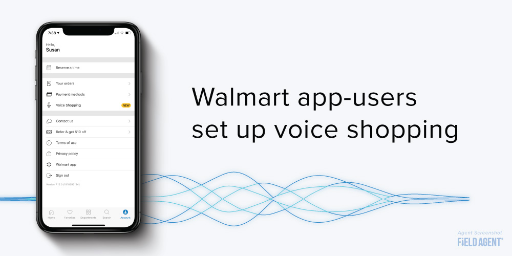 Walmart Siri Account