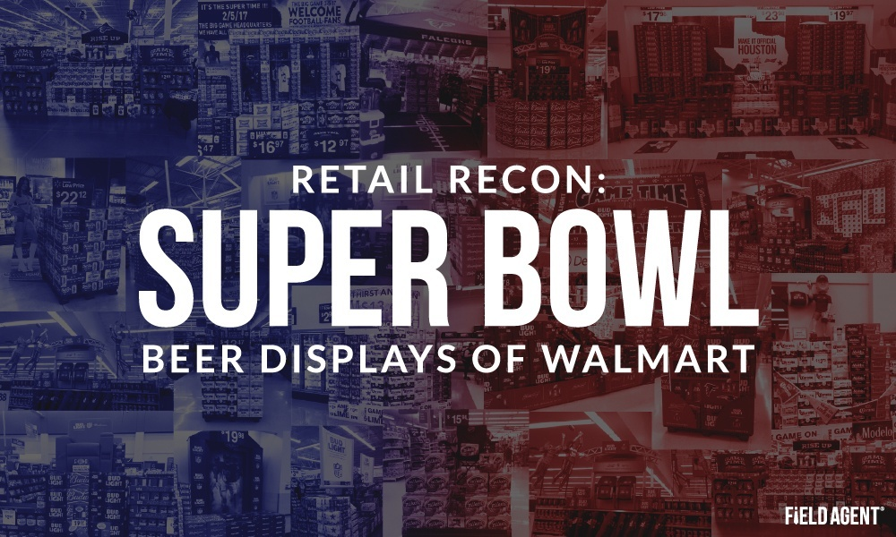 Super Bowl Beer Displays of Walmart