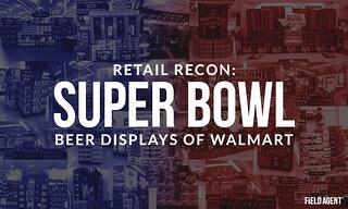 Super Bowl Beer Displays of Walmart