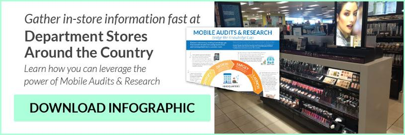 Bridge the gap between department stores and customers. Learn how you can leverage the power of mobile audits and research