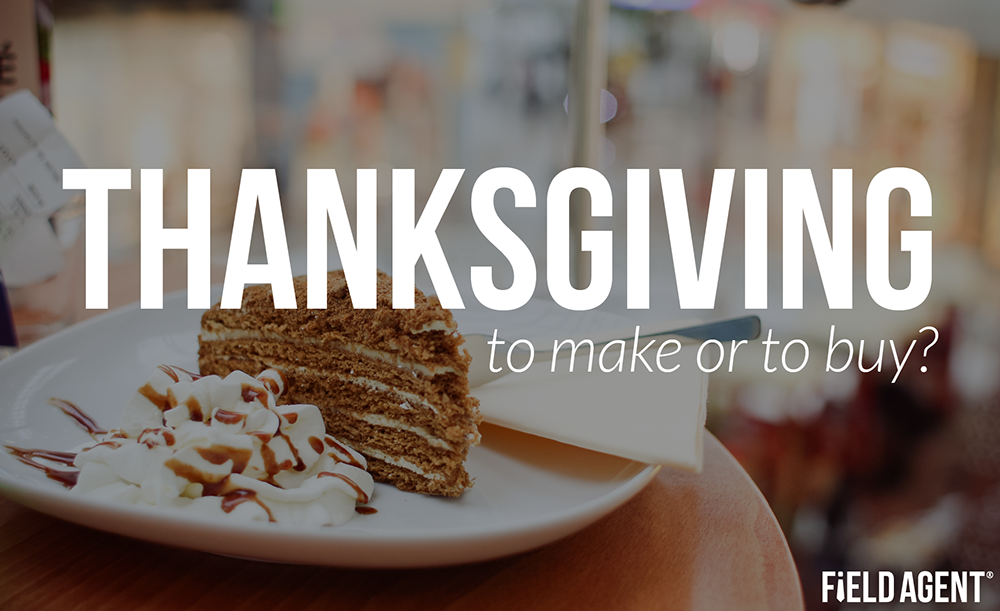 Thanksgiving: to make or to buy?