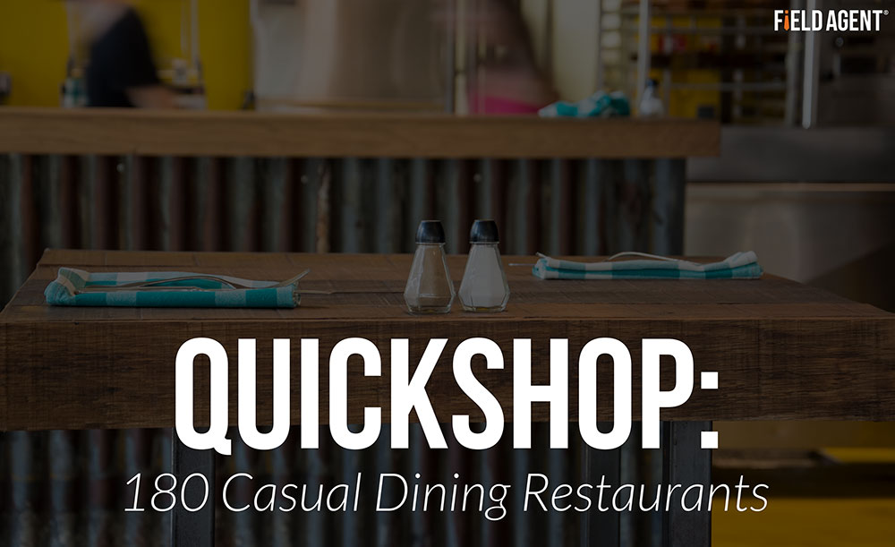 A QuickShop of 180 Casual Dining Restaurants
