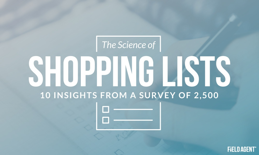 The Science of Shopping Lists: 10 Insights from a Survey of 2,500